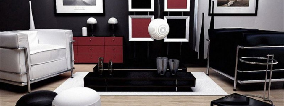 Black-white-red-modern-living-room