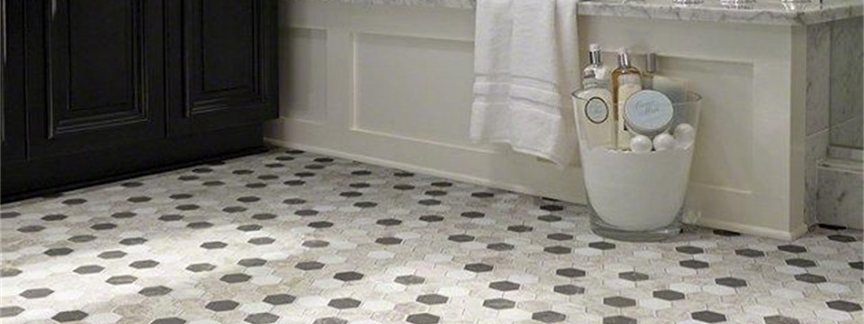 boca hexagon tile floors by shaw bathroom
